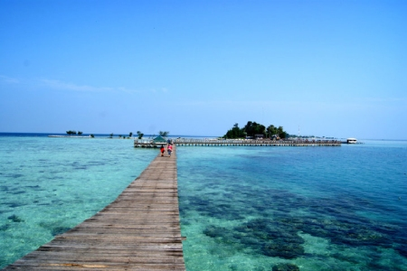 Salah satu pemandangan Pulau Tidung nan cantik