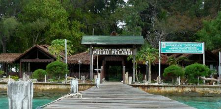 Pintu masuk ke Pulau Pelangi